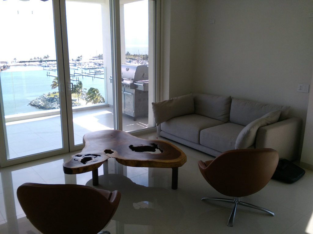 Living Room and Bay View of Nayri Penthouse